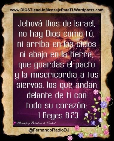 1 Reyes 8:23